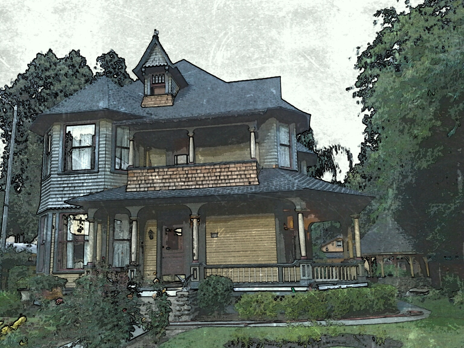 Artist Rendering of the Ernest Wood House