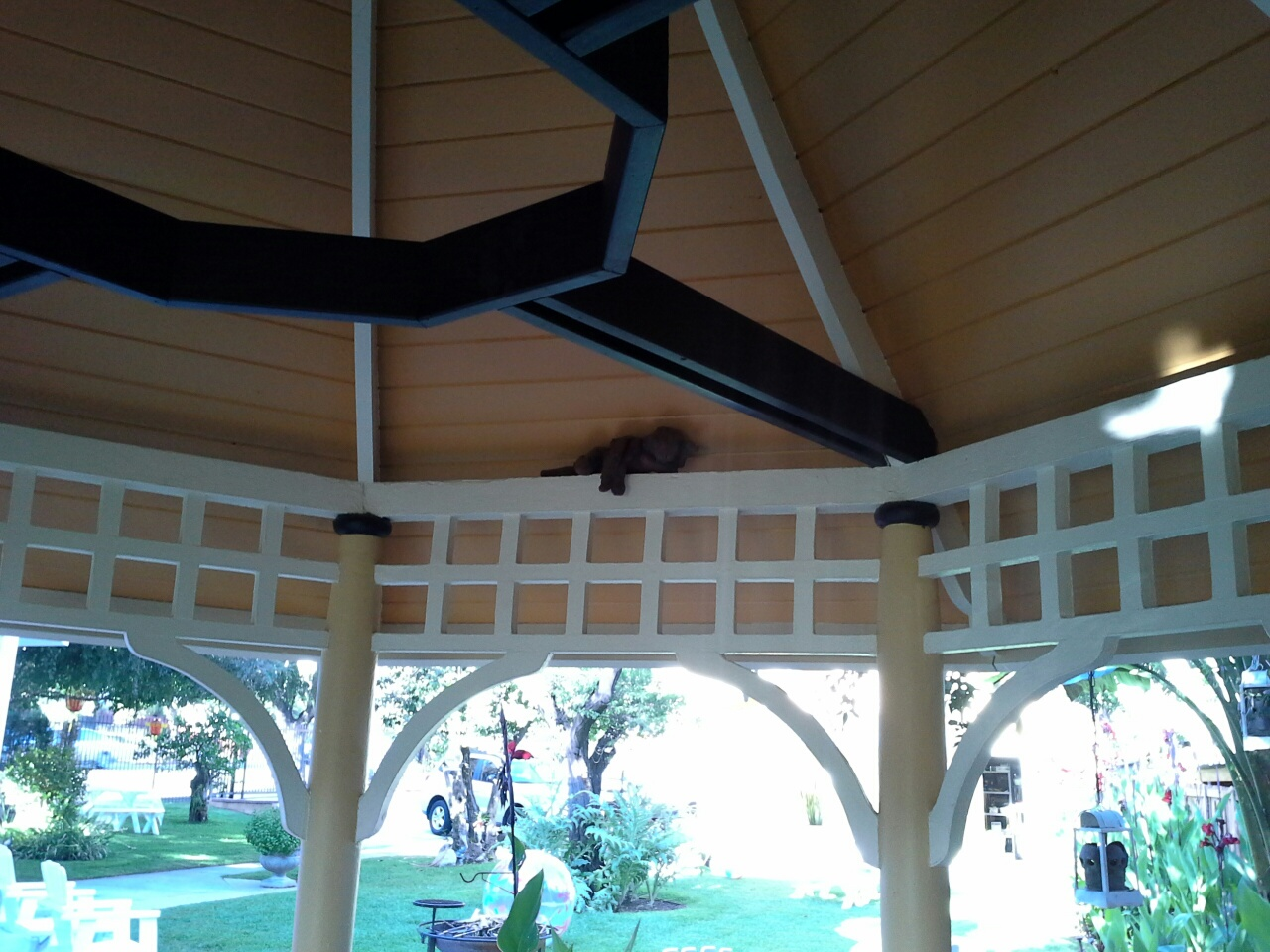 Angel in the Ernest Wood House Gazebo
